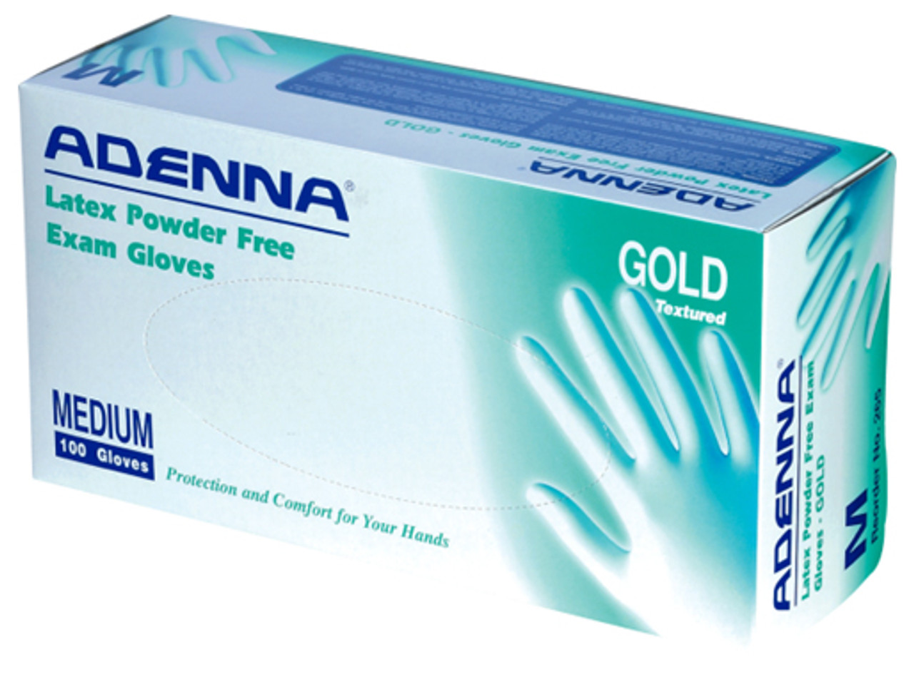 Adenna Gold Latex Powder-Free Exam Gloves 100/Box