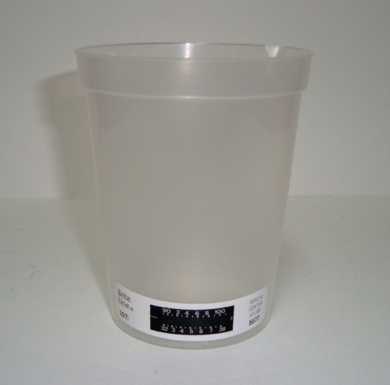 Collection Beaker 180mL Temp Strip, Graduated 25/Sleeve