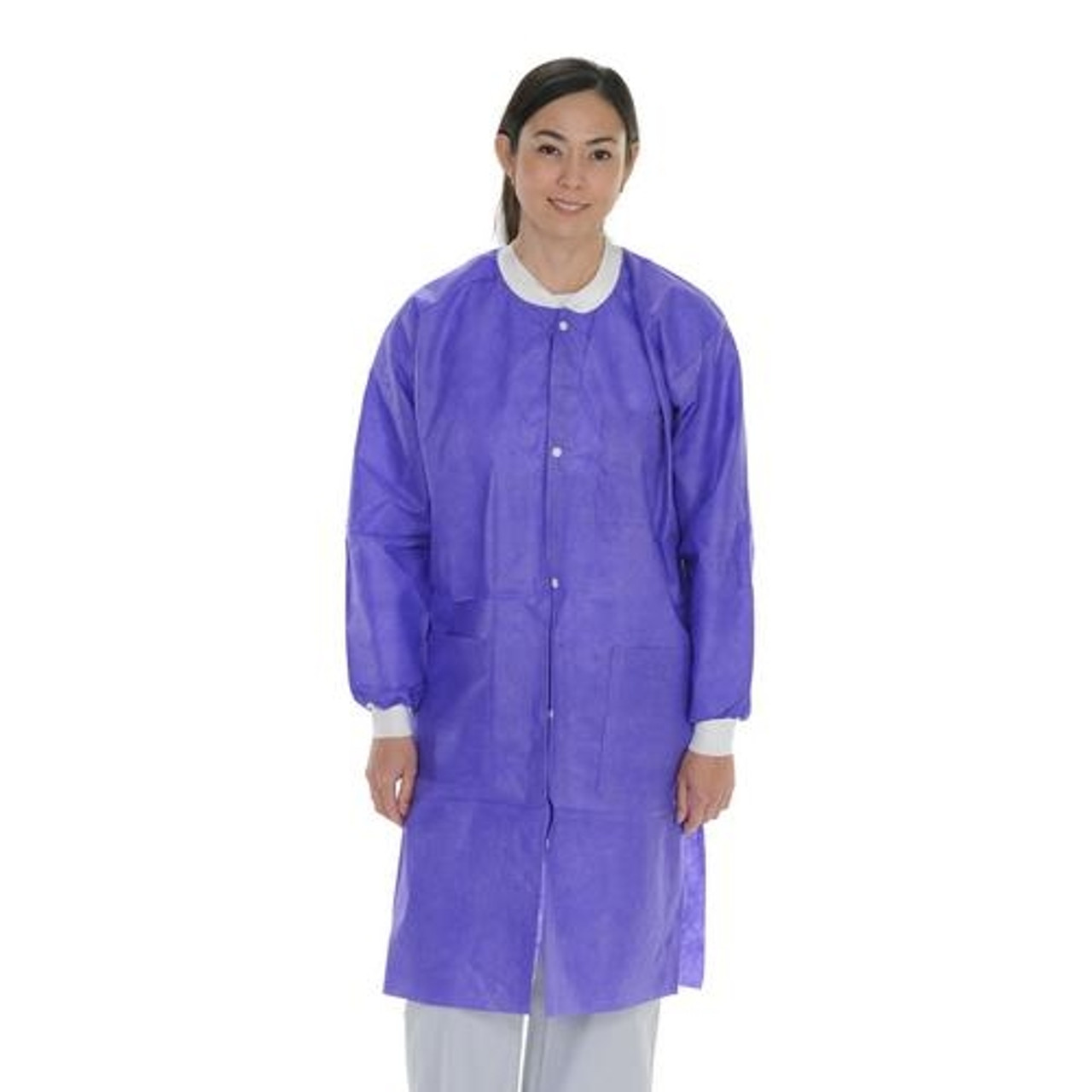 ValuMax Extra-Safe Lab Coat Knee Legnth SMS Violet Purple