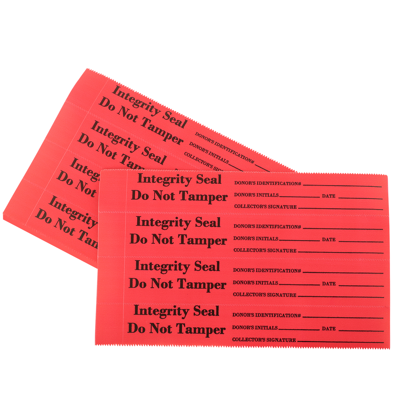 Tamper Evident Security / Integrity Seal Acetate, Red Film 400/Package
