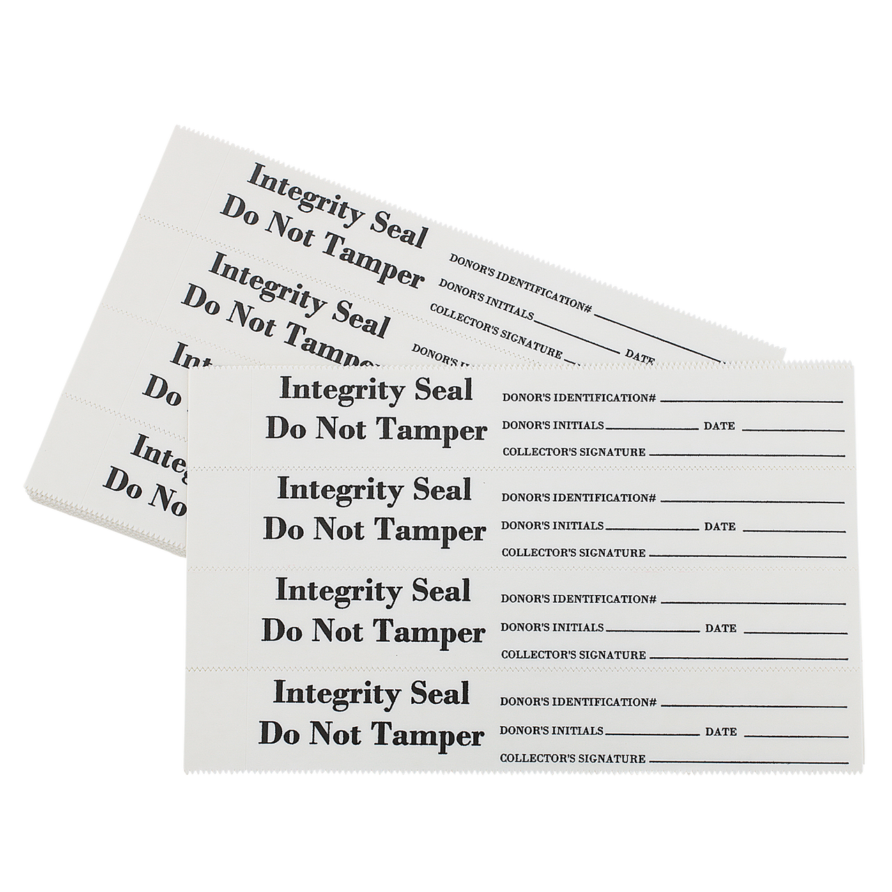 Tamper Evident Security / Integrity Seal Acetate, White Film 400/Package