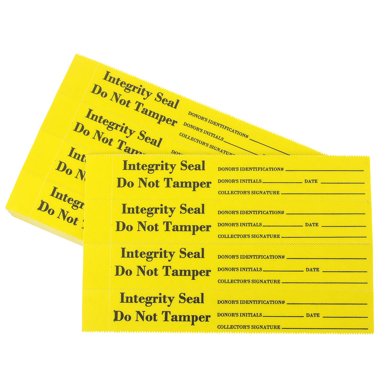 Tamper Evident Security / Integrity Seal Acetate, Yellow Film 400/Package