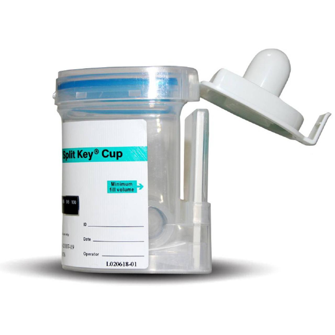 12 Panel E-Z Integrated Split Specimen Key Cup Drug Test 25/Box