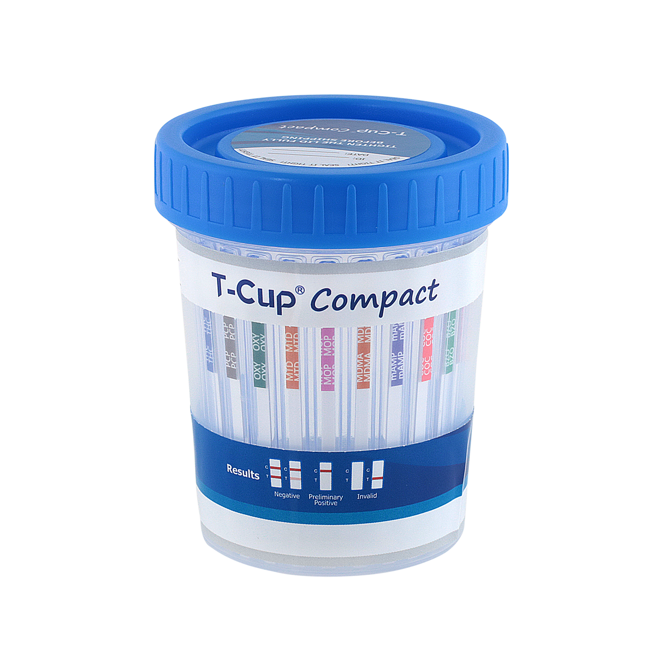 12 Panel T-Cup Compact Instant Drug Test Cup with ETG & FEN, 25/Box