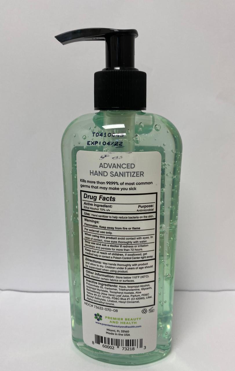 8 oz Hand Sanitizer gel