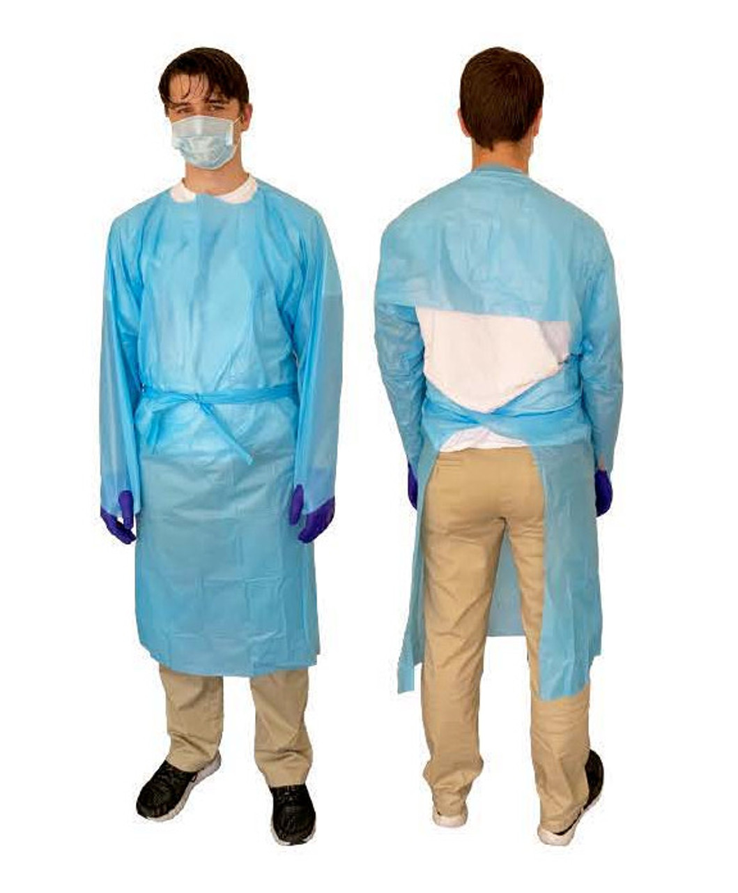 LabAid Fluid Impervious Polypropolene Gown, thumb-loop, unisize