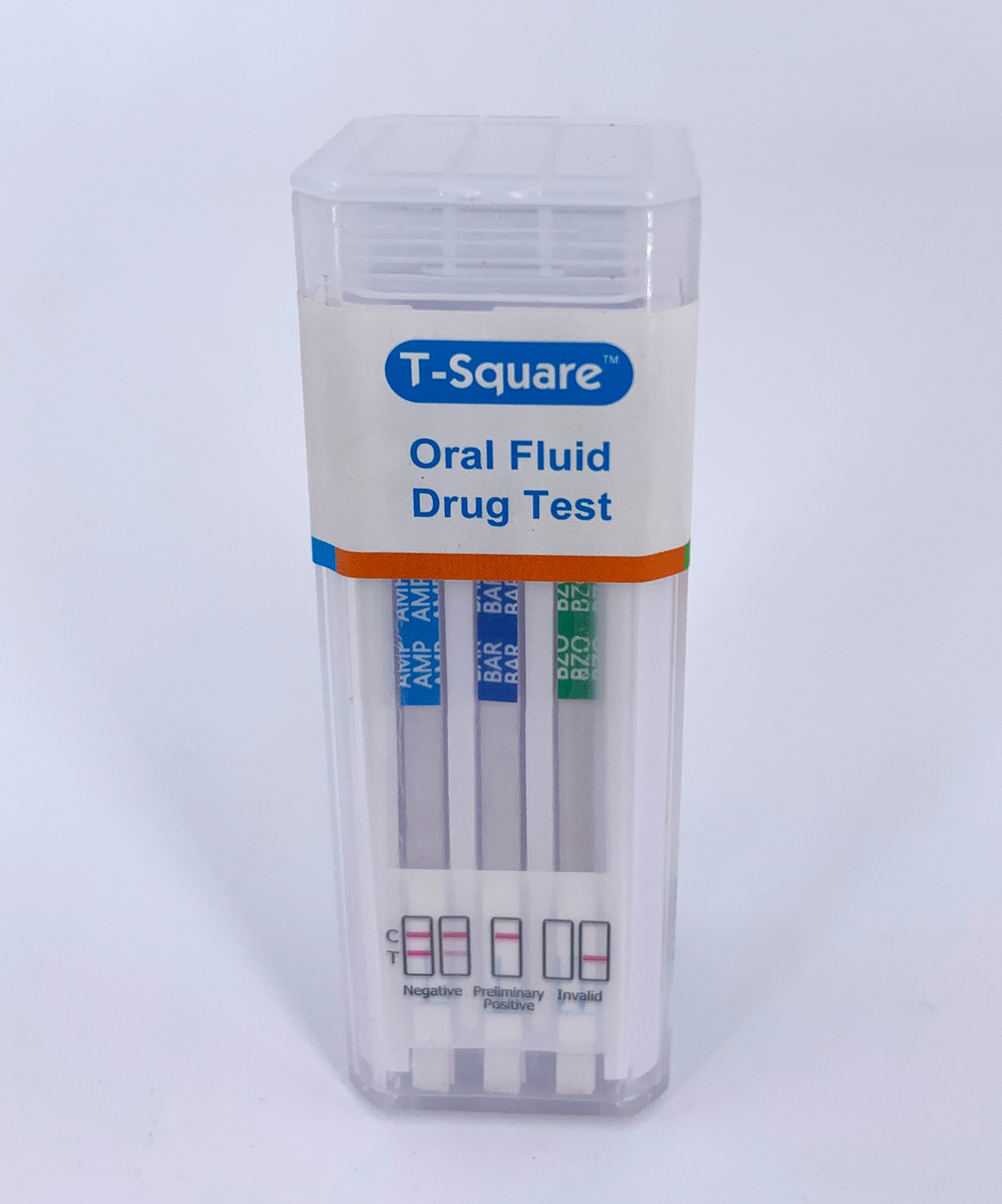 5 Panel T-Square Oral Fluid Drug Test with Saliva Indicator Front
