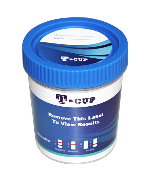 10 Panel T-Cup CLIA Waived Instant Drug Test Cup 25/Box