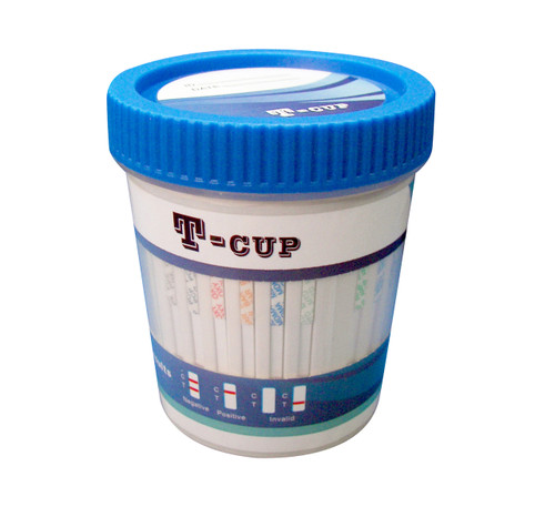 10 Panel + Adulterants T-Cup CLIA Waived Instant Drug Test Cup 25/Box