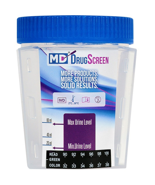 12 Panel MD Drug Test Cup Flat Front 25/Box