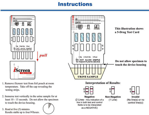 1 Panel Drug Test Dip Card iScreen by Alere / Abbott CLIA Waived 25/Box