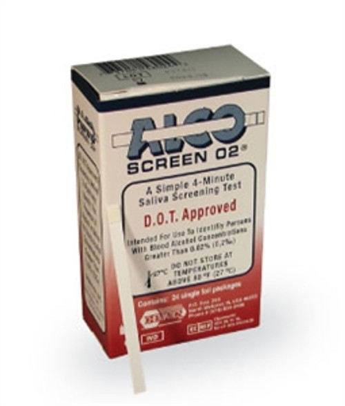 Alco-Screen .02 Saliva Alcohol Test D.O.T. & CLIA Waived 24/Box