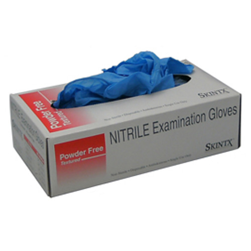 Open box of Blue Nitrile gloves