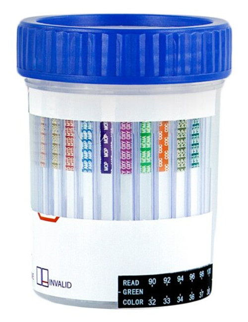 Healgen Scientific 5 Panel Drug Test Cup with Built-in Adulteration Testing