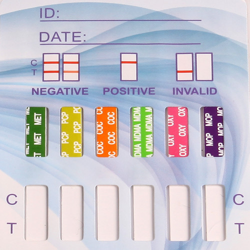 12 Panel Drug Test Dip Card by Healgen CLIA Waived