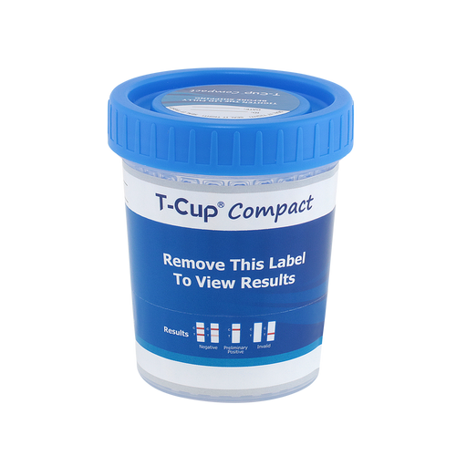10 Panel T-Cup Compact CLIA Waived Instant Drug Test Cup 25/Box