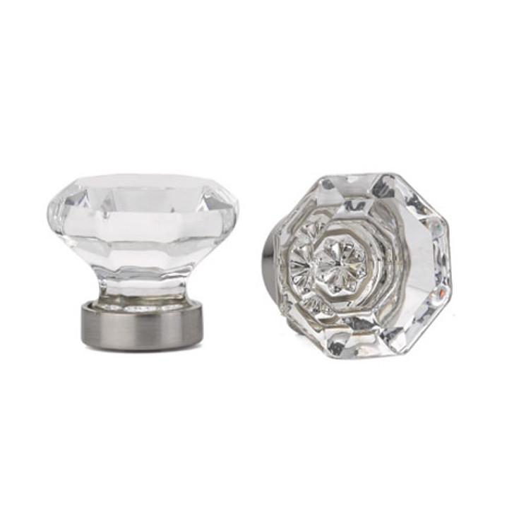 """Emtek 86011 Crystal Old Town 1 1/4"""" Cabinet Knob - Clear"""