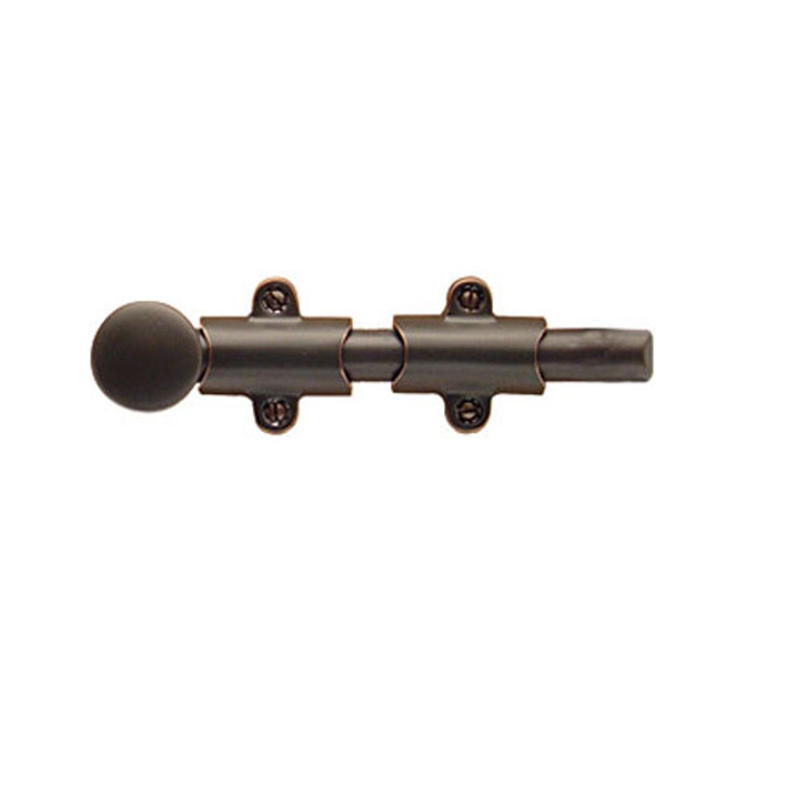 "Emtek 8515 Door Accessories Solid Brass 8"" Surface Bolt with 3 Strike & Screws"