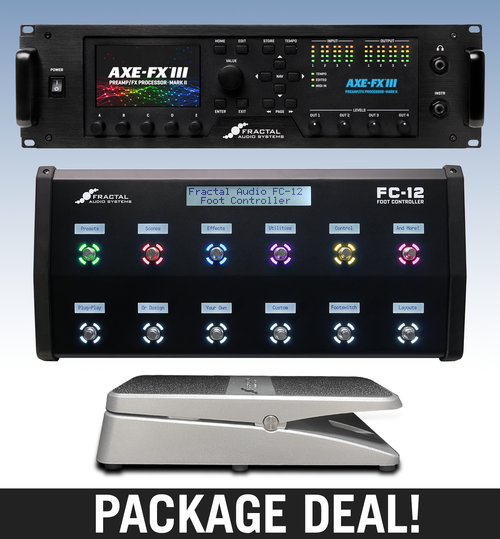 PACKAGE DEAL! Axe-Fx III with FC-12, EV-1 and 1m TRS Cable