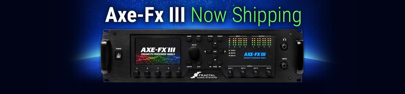Axe-Fx III Mark II Now Shipping