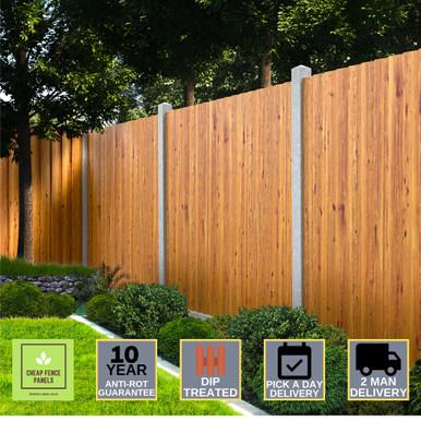 Feather Edge Fence Panel 6 x 4