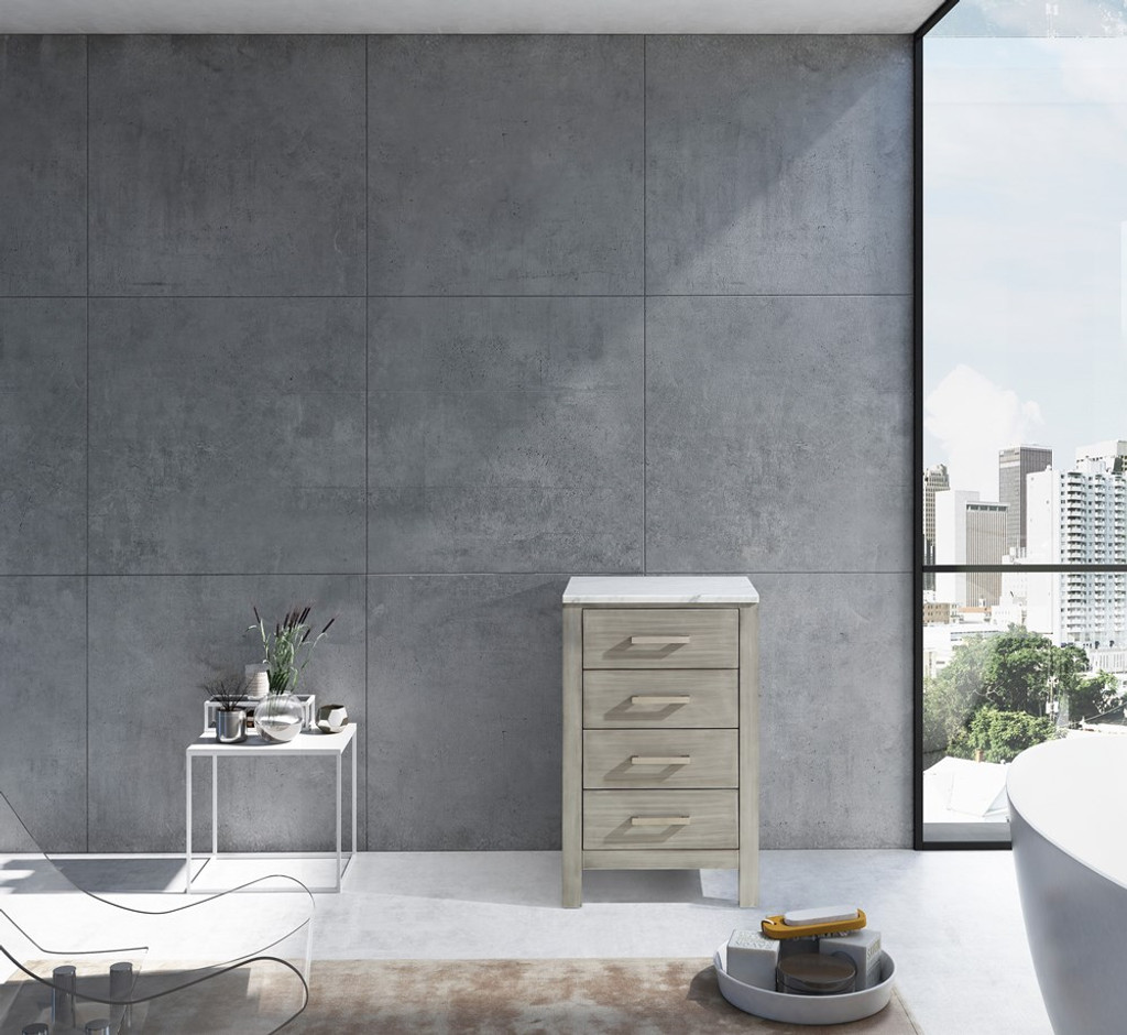 """Lexora Jacques 20"""" Distressed Grey Side Cabinet 
