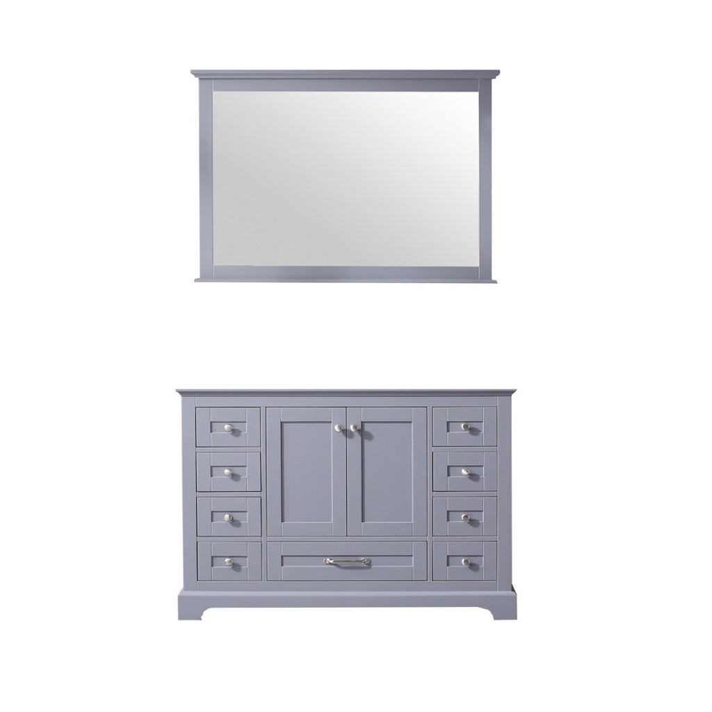"Lexora Dukes 48"" Dark Grey Single Vanity 