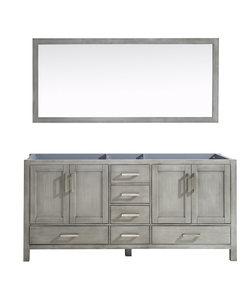 "Lexora Jacques 72"" Distressed Grey Double Vanity 