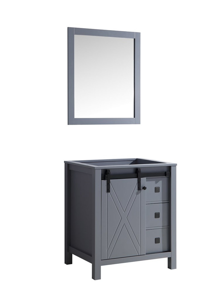 "Lexora Marsyas Veluti 30"" Dark Grey Single Vanity 