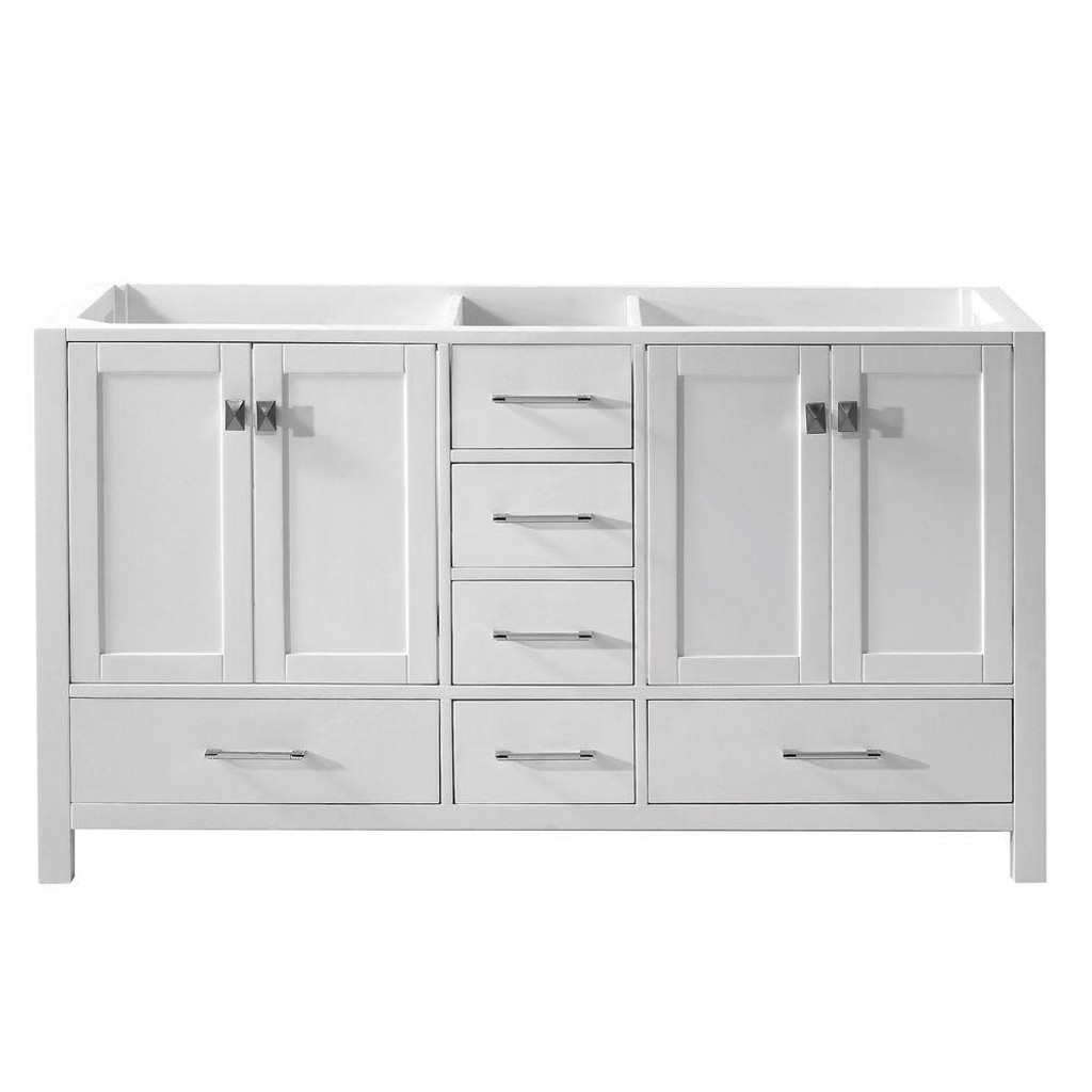 Virtu USA Caroline Avenue 60 Bathroom Base Cabinet in White