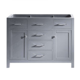 "Virtu USA Caroline 48"" Single Bathroom Vanity Cabinet in Grey"