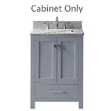 "Virtu USA Caroline Avenue 24"" Single Bathroom Cabinet in Grey"