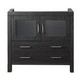 "Virtu USA Dior 32"" Single Bathroom Vanity Cabinet in Zebra Grey"