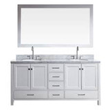"ARIEL Cambridge 73"" Double Sink Vanity Set in White"
