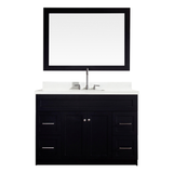 "Ariel Hamlet 49"" Single Sink Vanity Set with White Quartz Countertop in Black"
