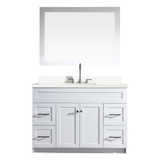 "Ariel Hamlet 49"" Single Sink Vanity Set with White Quartz Countertop in White"