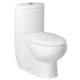 The Hermes from Ariel Bath is a contemporary toilet design with a greener lifestyle in mind. This one-piece toilet has a dual flush system for conserving water. It also adds a contemporary, European look to your bathroom remodel.