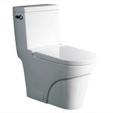 Meet The Oceanus, a TB326M Contemporary European Toilet from the Ariel Platinum series. This one-piece toilet design is cutting-edge and unique. The bowl is elongated and the seat is non-slamming and closes softly.