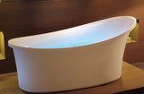 EAGO AM1800 6 Foot White Free Standing AirBubble Bathtub (AM1800)