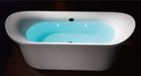 "EAGO AM1900 74 3/4"" White Free Standing Air Bubble Bathtub (AM1900)"