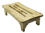 """ALFI brand AB4408 24"""" Solid Wood Stepping Stool for Easy Access"""