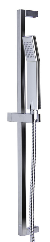 ALFI brand AB7606-PC Polished Chrome Sliding Rail Hand Held Shower Head Set with Hose.