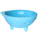 Alfi Brand Light Blue Round Fiberglass Portable Outdoor Hot Tub | FireHotTub-LB