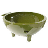 Alfi Brand Olive Green Round Fiberglass Portable Outdoor Hot Tub | FireHotTub-OG
