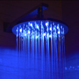 "ALFI brand LED5006 10"" Round Multi Color LED Rain Shower Head"
