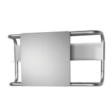 Whitehaus AEA085BL Aeri Aluminum Mirror with Two Shelves (AEA085BL)