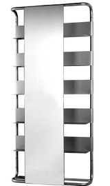 Whitehaus AEA180 Aeri Large Wall Mount Aluminum Frame with Six Shelves & Retangular Sliding Mirror.
