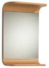Whitehaus AEM038N Aeri Wood Small Rectangular Wall Mount Mirror with Integral Wood Shelf.