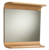 Whitehaus AEM055N Aeri Wood Rectangular Wall Mount Mirror with Integral Wood Shelf.