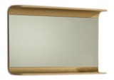 Whitehaus AEM085N Aeri Wood Rectangular Wall Mount Mirror with Integral Wood Shelf.